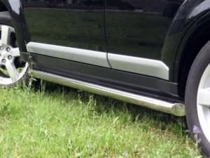 Mitsubishi Outlander 2010 Пороги труба d76 (вариант 1) MNT-0001171